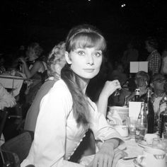 Audrey and her chic bangs