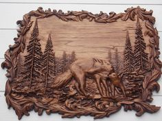 WOOD WALL ART Wolves Wall Decor  Wolf Wood by TheWoodGrainGallery