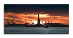 Another new creation ready to hang    http://thousandface.myshopify.com/products/statue-of-liberty-orange-sunset-panorama-canvas-wall-art-picture-home-decor-1?utm_campaign=social_autopilot&utm_source=pin&utm_medium=pin