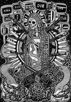 Santa Muerte by RebekaNagy on deviantART