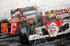 Senna y Alain Prost Alain Prost, Wallpaper Carros, San Marino Grand Prix, Mick Schumacher, Gilles Villeneuve, Speed Art, Ferrari Car, Car Drawings, Automotive Art