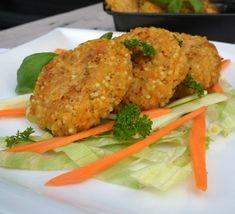 fitshaker_blog_zeleninove_hamburgery2 Tandoori Chicken, Salmon Burgers, Meat, Ethnic Recipes, Anna, Food, Essen, Meals, Yemek