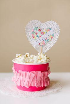 DIY Popcorn Valentines