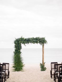 Tropical arch idea for Mexico beach wedding. Aisle Runner Wedding, Beach Wedding Reception, Beach Wedding Photos, Beach Wedding Decorations, Wedding Ideas, Wedding Receptions, Wedding Arches, Wedding Ceremony, Beach Photos