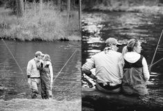 Fly Fishing Engagement Session in Oregon