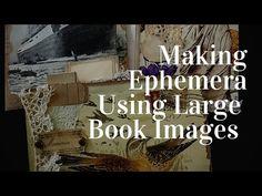 Making Junk Journal Ephemera - Using LARGE Book Images - YouTube Handmade Journals, Handmade Books, Book Journal, Art Journals, Journal Ideas, Bullet Journal, Scrapbooking, Scrapbook Cards, Paper Pocket