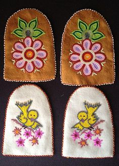 """Moccasin """"Vamps"""" – Walking With Our Sisters Native Beading Patterns, Beadwork Designs, Bead Embroidery Patterns, Native Beadwork, Bead Loom Patterns, Beaded Jewelry Patterns, Beaded Embroidery, Baby Moccasin Pattern, Beaded Moccasins"""