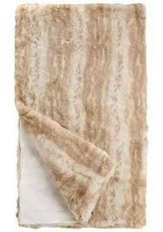 Blonde Mink Couture Faux Fur Throw Blanket by Fabulous Furs  #cozy #bedding #interiors #duvets #figlinenswestport #westport #quilts #figlinens #06880 #figlinensandhomewestport
