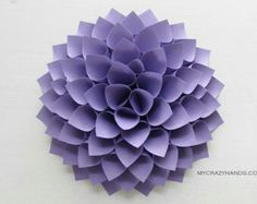paper dahlia texture lavender wall decor one of a kind as always by