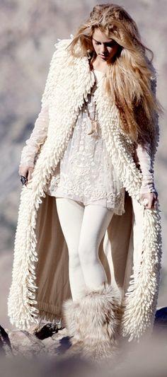 -long white sweater.<3