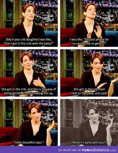 I want to raise kids as cool as Tina Fey's