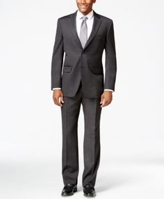 Tommy Hilfiger Charcoal Solid Classic-Fit Suit