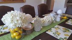 Springtime lemon inspired table scape by Maria Katz Designs of Tucson