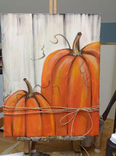 31 Favorite DIY Fall Decorating Ideas Herbst Deko - Fall decor ideas for the porch - Fall Canvas Painting, Autumn Painting, Autumn Art, Tole Painting, Fall Paintings, Diy Painting, Image Painting, Halloween Painting, Pumpkin Painting Ideas Diy