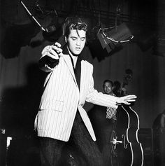 Elvis Presley rocked a blazer throughout his rock and roll career.
