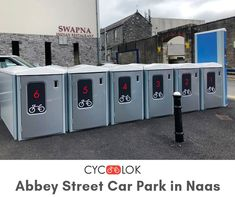 We believe in making safe and secured bike parking solution available, nearer and easier to all bike commuters. A new Cyc-Lok bike locker unit is installed and going to be launched soon at Abbey Street Car Park in Naas, Co.Kildare, provided by Kildare County Council. Stay in touch for booking and parking details.  #CycLokLocker #BikeLocker #BikeParking #AbbeyStreetCarPark #Naas #Kildare #Parkinginnaas‬ #KildareCountyCouncil #NaasBikers #Bicycling #SecureCycleParking Bike Locker, Parking Solutions, Bike Parking, Commuter Bike, Bicycling, Locker Storage, The Unit, Restaurant, Touch