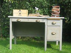 retro wooden desk