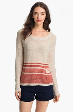 Joie 'Darcelle' Linen Sweater available at #Nordstrom