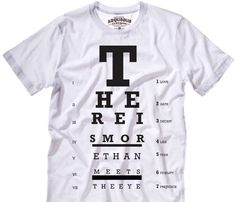 Sweet idea for a shirt! There is more than meets the eye.