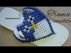 Trama Completa com Coruja de pérolas para decorar chinelo Com Gleicy Kelly Barbosa - YouTube