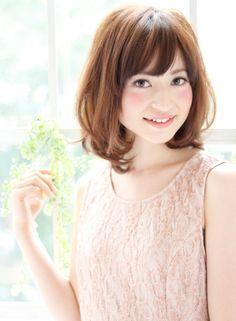 大人かわいいワンカールミディアム 【K-two GINZA・QUEEN'S GARDEN】 http://beautynavi.woman.excite.co.jp/salon/26811?pint ≪ミディアム・ヘアスタイル・medium・hairstyle・髪形・髪型≫