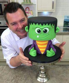 Man bake cake