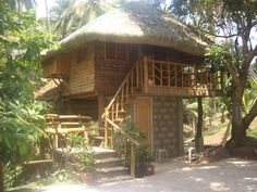 This is 2 storey modern design of Nipa Hut Philippines for more bahay kubo design , you just proceed here. Bamboo House Design, Tropical House Design, Tropical Houses, Filipino Architecture, Philippine Architecture, Bahay Kubo Design Philippines, Filipino House, Hut House, Tiny House