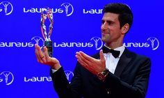 Serbia's world no.1 tennis player Novak Djokovic has been named the Sportsman of the Year at this year's Laureus Sport Awards! Novak won the prestigious award for a third time. He was previously voted 2011 and 2014 Sportsman of the Year. (Photo: AFP / Getty Images)