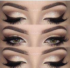 Eyes!!! I love the use of white eyeliner and dramatic black liner