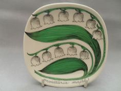 "by arabia finland... bowl ""lily of the valley"""