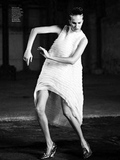 visual optimism; fashion editorials, shows, campaigns & more!: haute culture: alla kostromichova and alexandra martynova by stian foss for l'officiel paris april 2014 #fashion #photograp