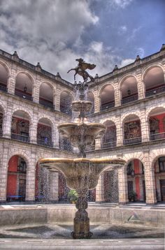 fountain and central courtyard, National Palace, Main Plaza, Mexico City