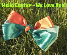"""Hello Easter- We Love You! The first of our Bright Easter Range the Luxury """"Carrot"""" Bow Tie! Created lovingly from chic Satin ribbon in colors of pastel and emerald green and warm orange. Centre detail features a cute sparkly carrot! Luxury Bow Tie is medium to large size but can be customized to all dog and cat breeds!  Special Easter Holidays offer Luxury Satin Bow Tie 21 & FREE shipping around the world!  #bowsofinstagram #bowties #Easter #bowtie #dog #dogs #pug #pugs #pugsofinstagram…"""