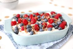Baking Recipes, Cake Recipes, A Food, Food And Drink, Italian Cooking, Trifle, Cake Cookies, Raspberry, Oatmeal