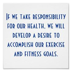 health and fitness goals