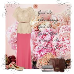 Feminine Modest Outfit....i would accessorize differently, but still cute for work.