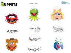 Free Muppets Printable Character Tags (Kermit, Miss Piggy, Fozzie, Animal & Gonzo)