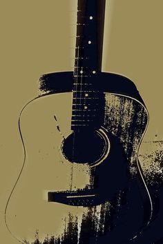 Vintage Guitar Photograph - Vintage Guitar Fine Art Print