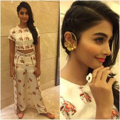Pooja Hegde Outfit - Jewelry - Styled by - Western Dresses, Indian Dresses, Indian Outfits, Indian Attire, Indian Wear, Indian Designer Outfits, Designer Dresses, Stylish Dresses, Fashion Dresses