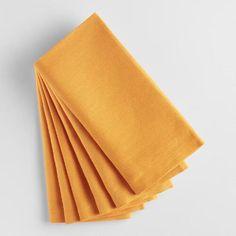 Golden Yellow Buffet Napkins Set of 6