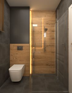 Łazienki w domu w Józefowie – OroConcept – pracowania projektowania wnętrz Washroom Design, Bathroom Design Luxury, Toilet Design, Modern Bathroom Design, Home Interior Design, Minimalist Small Bathrooms, Latest Bathroom Designs, Living Room Decor Fireplace, Bathroom Design Inspiration