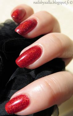 Picture Polish - Bridget, gorgeous red holo nail polish!