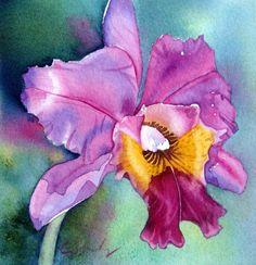 Colleen Sanchez - orchid watercolor