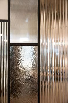 Partition Design, Glass Partition, Office Interior Design, Office Interiors, Zigarren Lounges, Reeded Glass, Verre Design, Joinery Details, Glass Texture