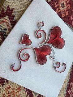 Pin on string art Pin on string art String Art Heart, Nail String Art, String Crafts, String Art Templates, String Art Patterns, Valentine Crafts, Valentines, Diy And Crafts, Arts And Crafts