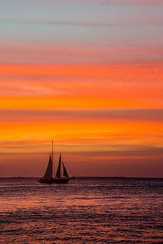 """mistymorningme: """"  Mallory Square Sunset by Sathish J Via Flickr: The hue and cry of the excited revelers spread far and wide out onto the tiny town at the western edge of the Florida Keys. Its faint verocity from four blocks away became more..."""