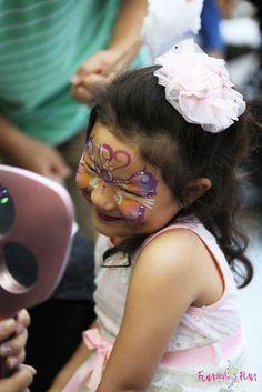 Butterfly face paint - Artist: Veronica