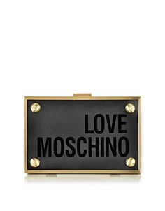 LOVE MOSCHINO Love Moschino Women'S Jc4316Pp02Kx0998 Black Pvc Clutch. #lovemoschino #bags #shoulder bags #clutch #pvc #hand bags #
