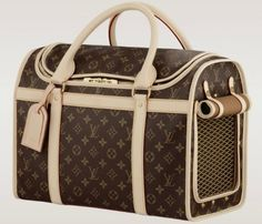 The @Louis Vuitton Official Dog Carrier is for chic owners and their pets
