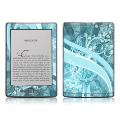 Kindle 4 Skin - Flores Agua by DecalGirl Collective | DecalGirl
